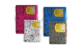 PP NOTEBOOKS A5 & A4 WITH DIVIDERS
